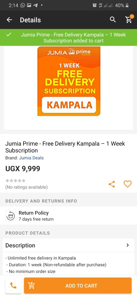 How to pay for Jumia Prime Uganda