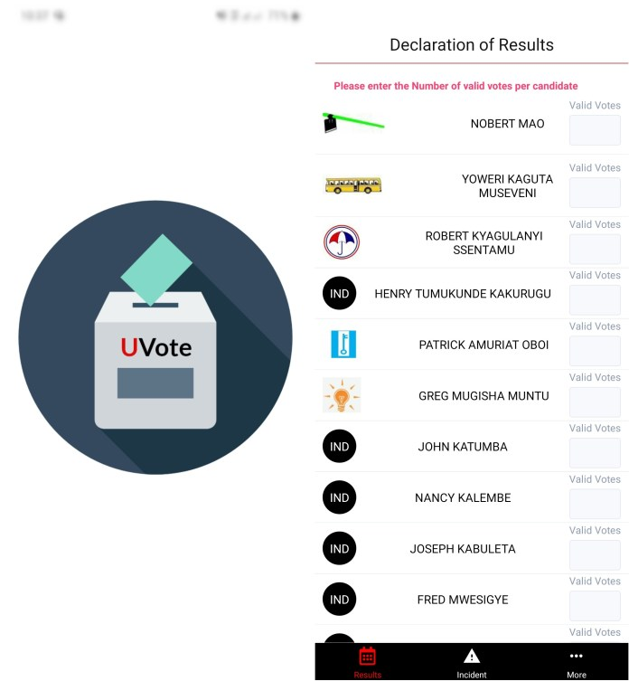 NUP Uvote app Uganda elections application - ugtechmag.com - 1