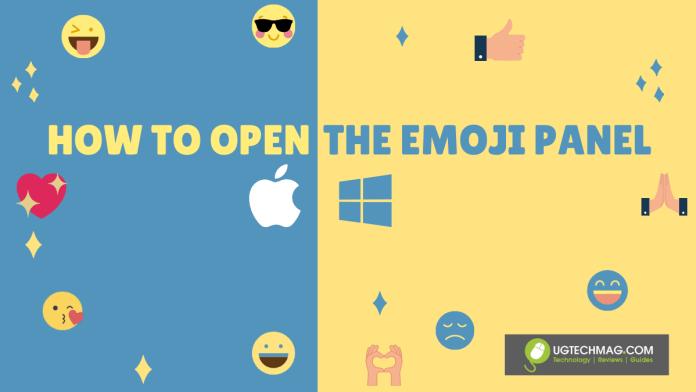 Open emoji panel MacBook windows - ugtechmag.com