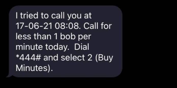 Safaricom Missed Call Alert