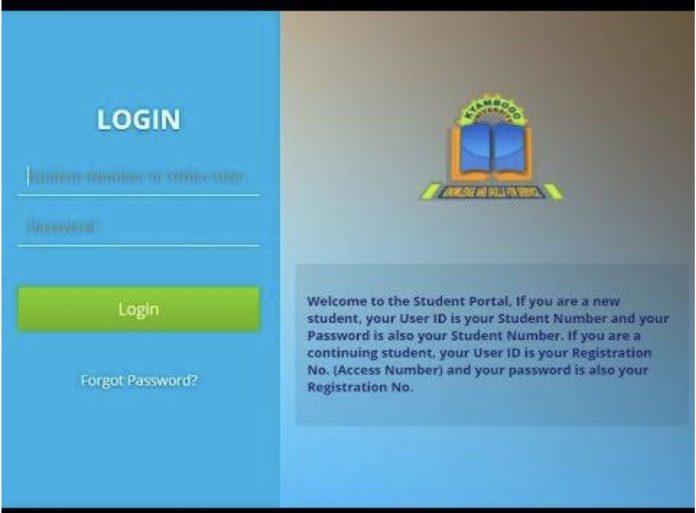 Kyambogo University Student portal
