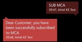 Missed Call alert on Airtel Kenya