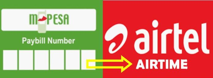 Buy Airtel airtime from Safaricom Mpesa