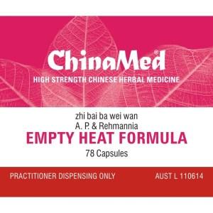 Zhi Bai Ba Wei Wan, Empty Heat Formula