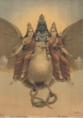 Ravi Varma (India), Vishnu-Garud Wahan, ca. 1920. Print, color lithograph, varnish, 70.850.8 cm. Spencer Museum of Art, 2014.0349. Museum purchase: R. Charles and Mary Margaret Clevenger Art Acquisition Fund.