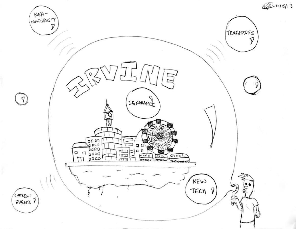 The Bubble: a cartoon