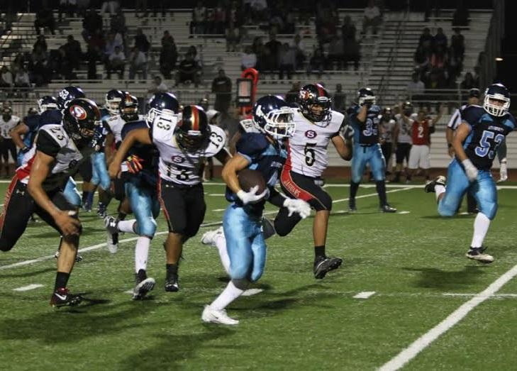 Football opens the season with a crushing 28-6 win over Segerstrom
