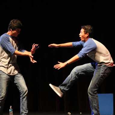 Eli Tita (Jr.) performs along with Captain Austin Barber (Jr.) (Diana Zhang)
