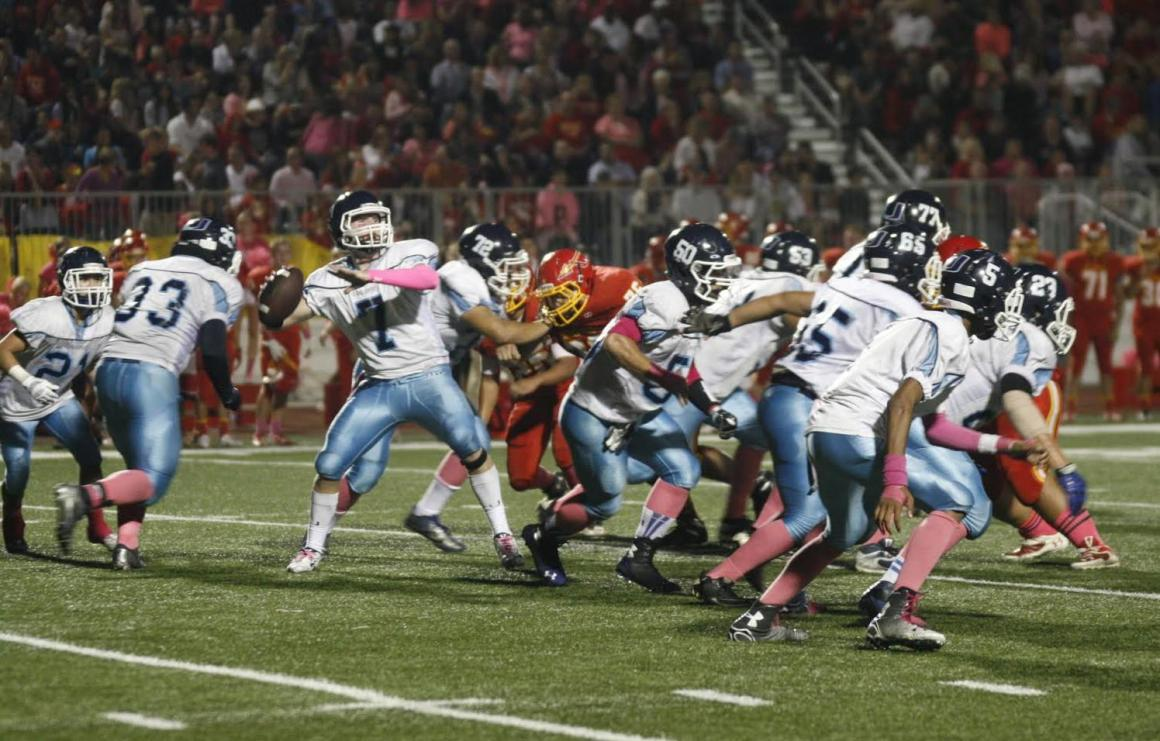 Football falls to Woodbridge 17-20 in first league game