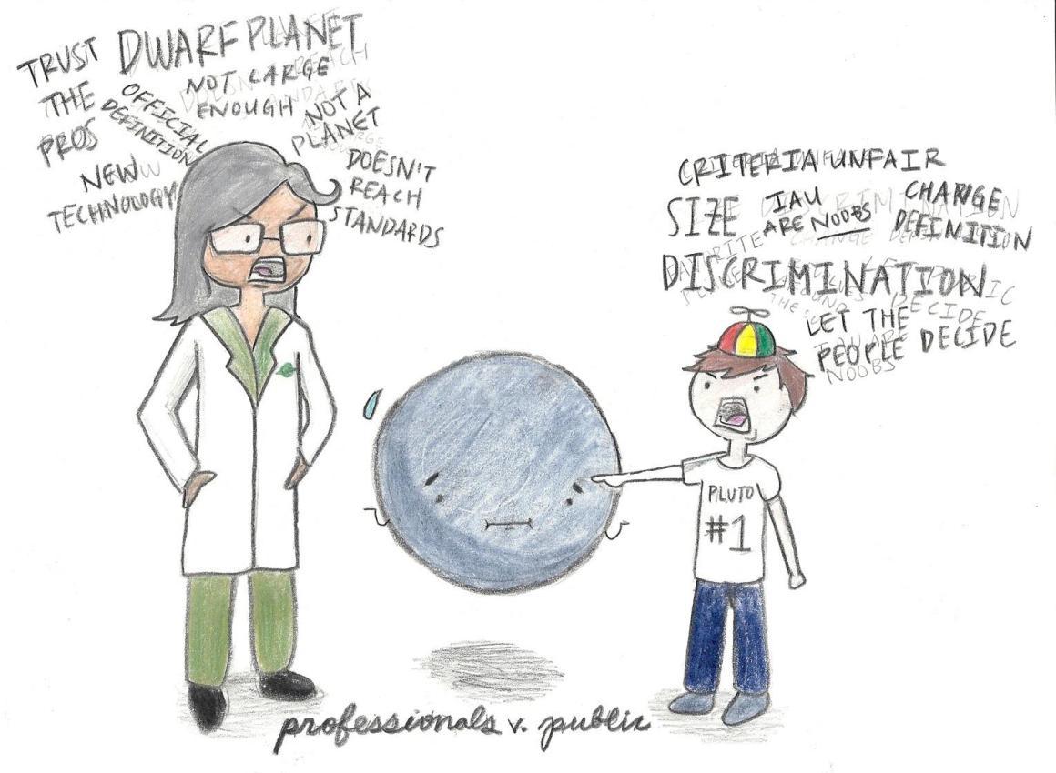 Viva la Pluto: The public or professionals
