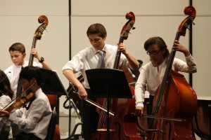 """The basses play """"Prelude"""" from the """"Holberg Suite"""" composed by Edvard Grieg (Johnny Liu)"""