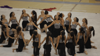 The UHS color guard team closed its season with its last competition at Edison High School (Courtesy of David Geller).