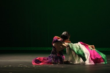Grace An (So.) performs the Lotus with traditional Chinese choreography.