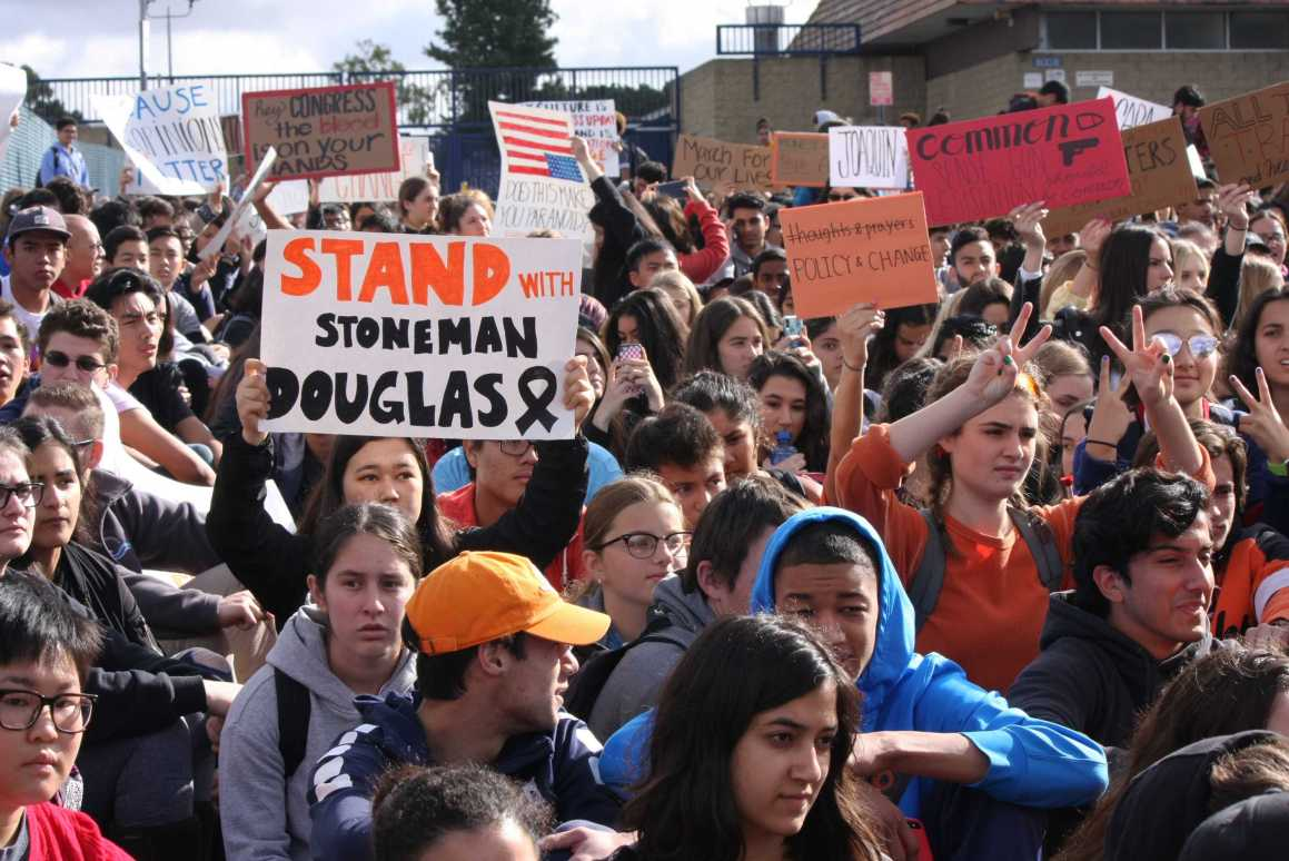 At least 500 students walk out in student-led protest