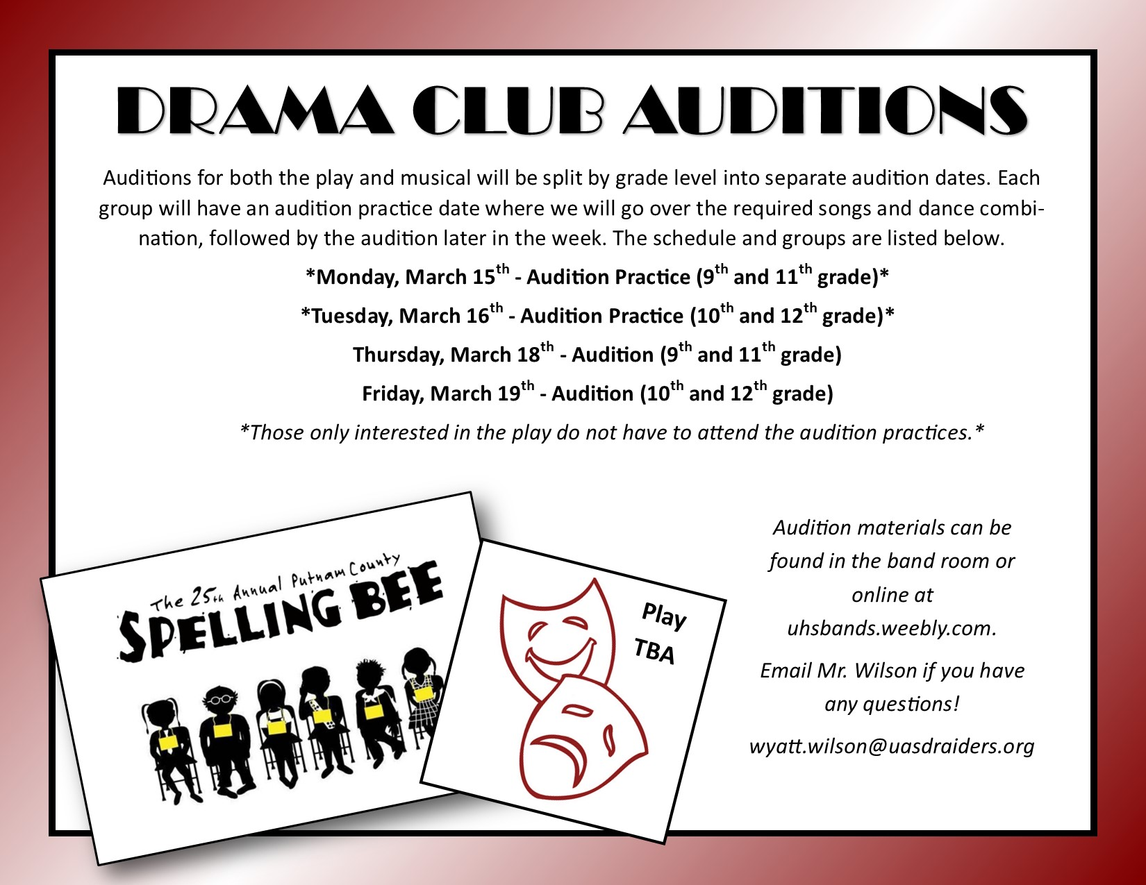 Drama Club Auditions