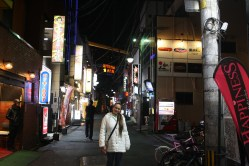 Street in Nakasu, the red-light district of Fukuoka