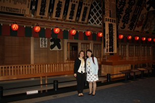 Elizabeth and Chelsea at the Edo-Tokyo Museum