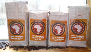 Packages of Sweet Unity Farms coffee. Photo courtesy of sweetunityfarmscoffee.com