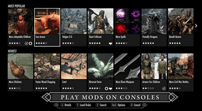 ニンテンドースイッチ版SkyrimはMODサポートなし