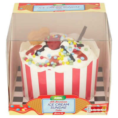 Asda All American Ice Cream Sundae Cake Asda Groceries
