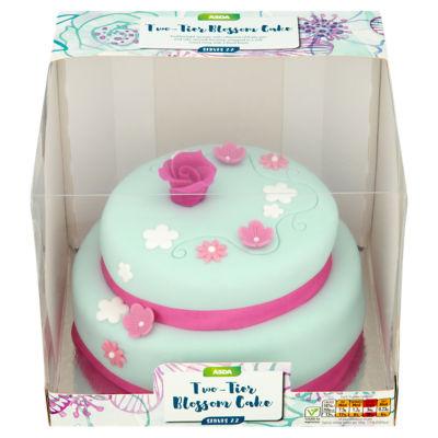Asda Two Tier Blossom Cake Asda Groceries