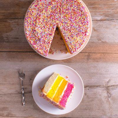 Asda Rainbow Jazzie Celebration Cake Asda Groceries