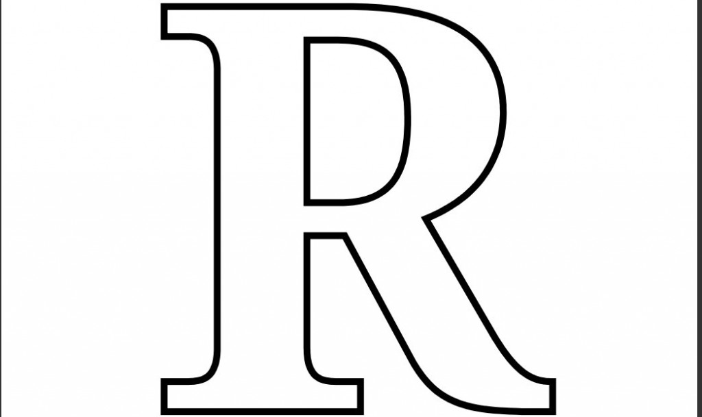 coloring pages letters r free script letter r coloring pages