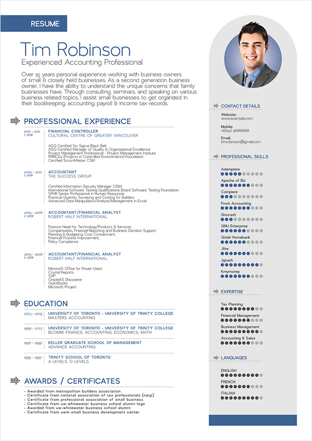 latest format for resume template for professional resume 17