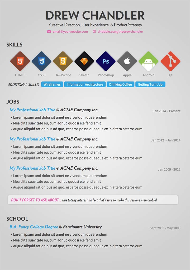 10 free cv templates designs for creative media it and