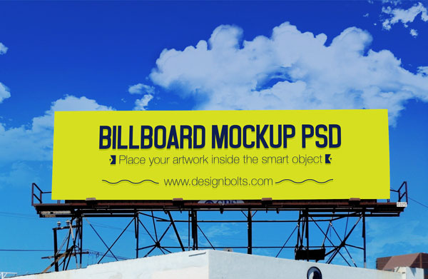 4 Free Outdoor Advertisement Hoarding Billboard Mockup PSD