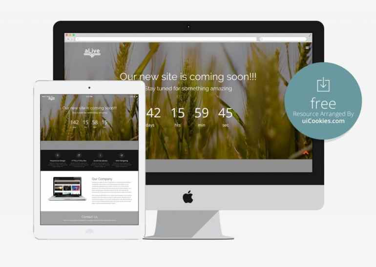 Alive - Responsive under construction web page template