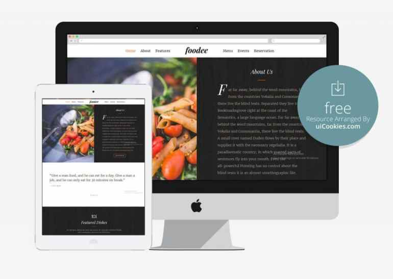 Bootstrap Responsive Restaurant Website Theme