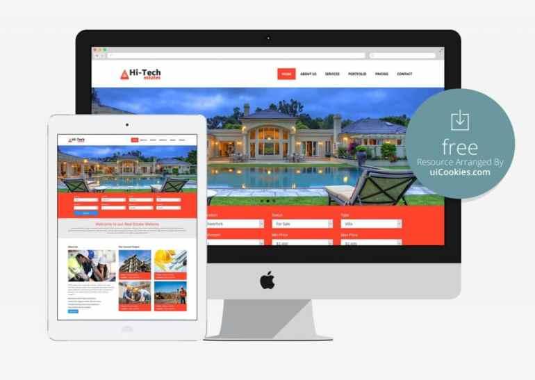Hi-Tech - Single Page Real Estate Website Template