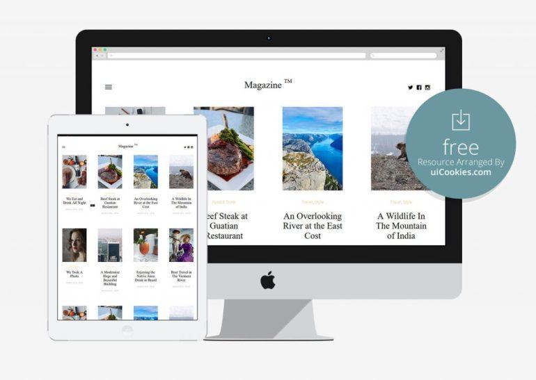 Magazine - Free Magazine Bootstrap Template