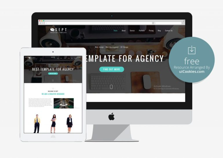 Sept - Creative Agency Bootstrap 3 Website Template
