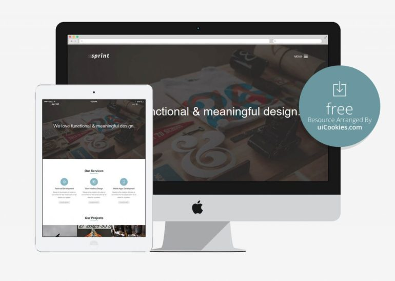 Sprint - Responsive Bootstrap Corporate Theme