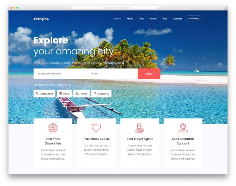 Tours And Travels Website Templates Bootstrap Free | Yoktravels com