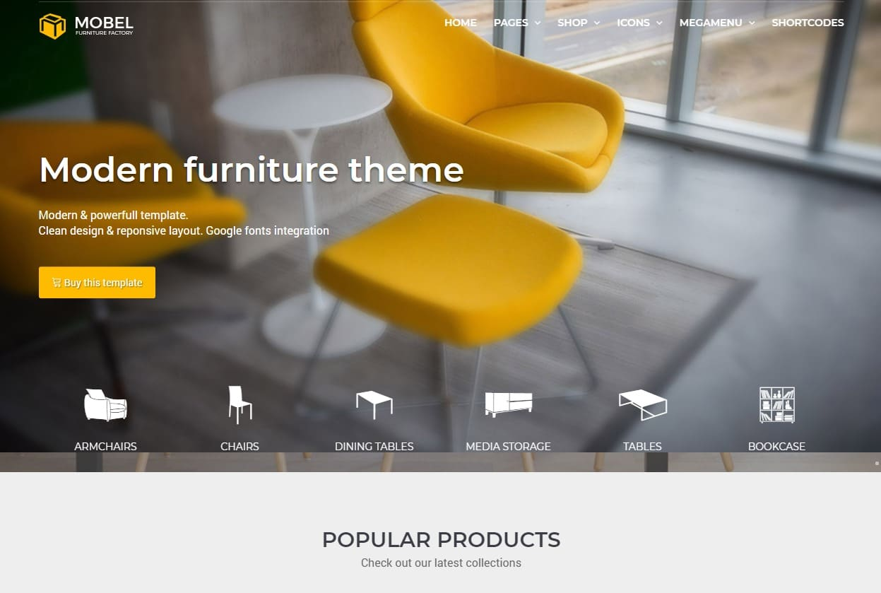 mobel ecommerce website html templates