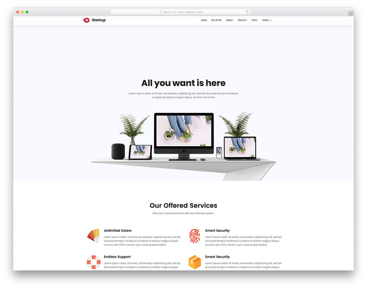 25+ Best Free Simple Website Templates For All Famous
