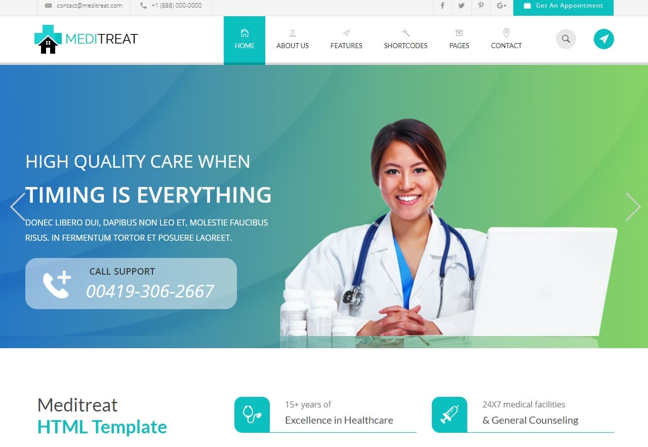 40 Amazing Premium Medical Website Template Options Worth A Try