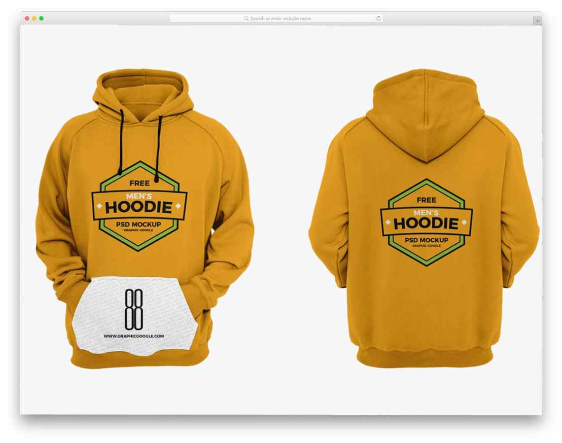Download Mockup Hoodie Lengan Pendek Yellowimages