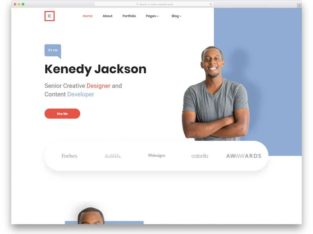 30 Best Free Personal Website Templates For Professionals 2020