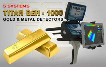 titan ger 1000 five systems for gold detector