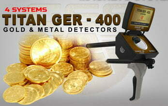 titan ger 400 four systems for gold detector