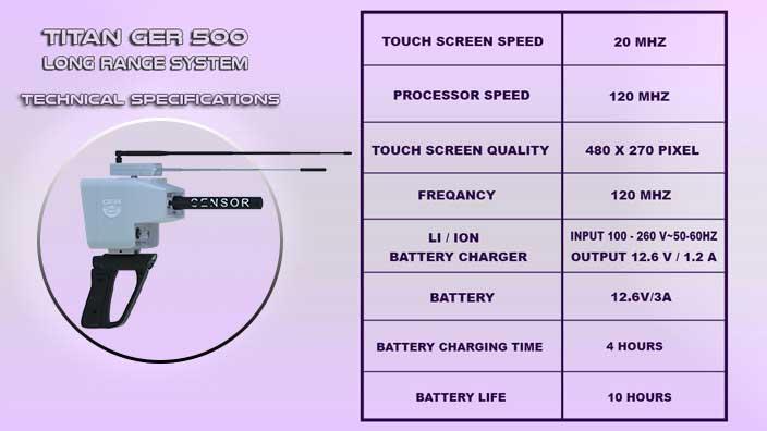 titan ger 500 plus technical specification