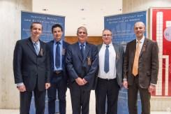 Alexandre Crasson, Quentin Drèze, Gérard Luthers, Jacques Colinet et Pierre Denne