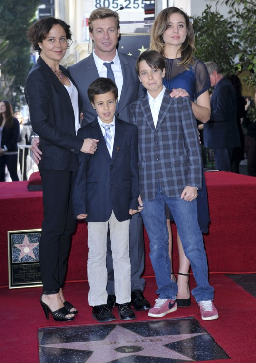Baker And Family At Hollywood Walk of Fame Ceremony
