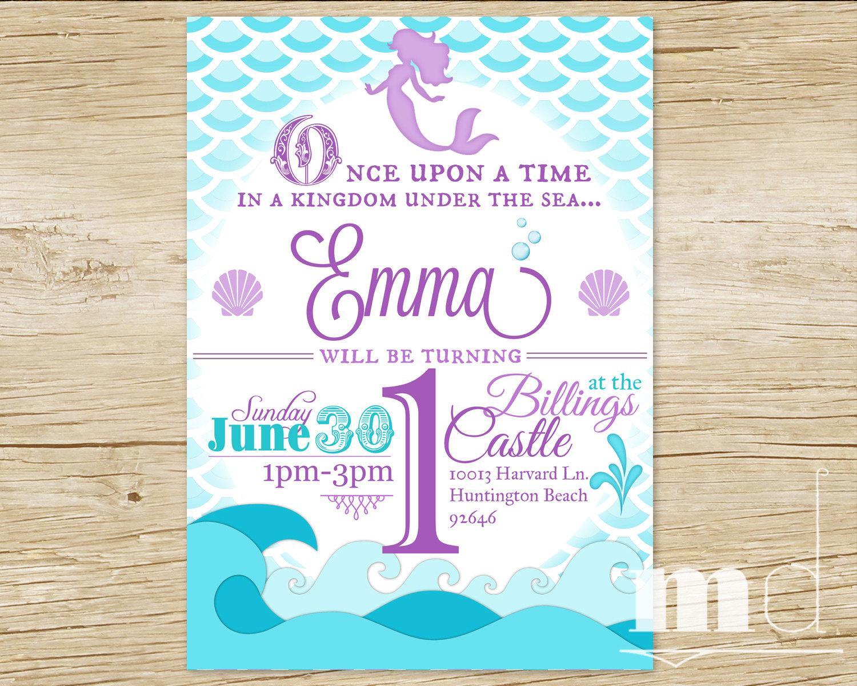 mermaid invitation template free