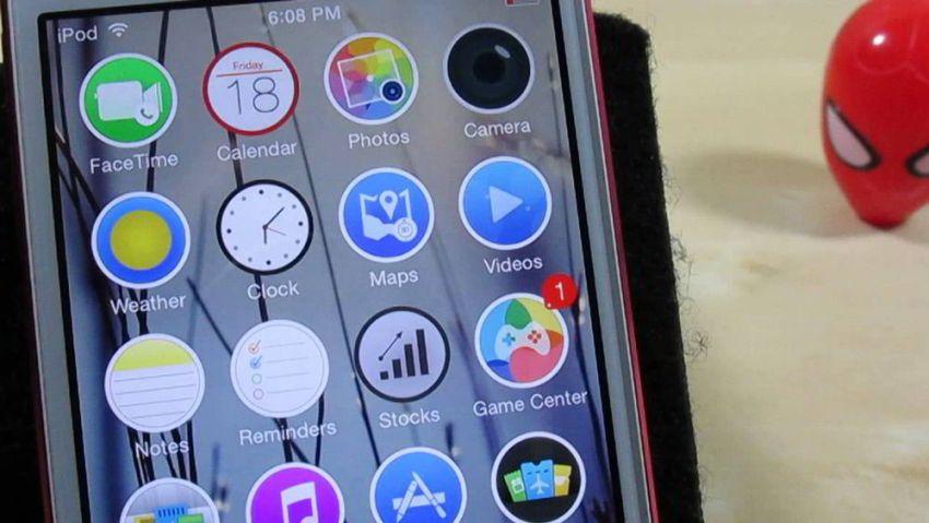 круглые иконки в iOS