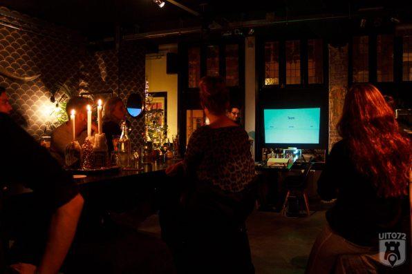 Presentatie Niels tijdens UIT072 borrel bij Spotlight